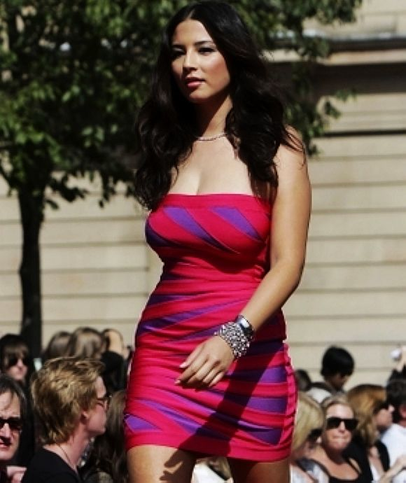 Jessica Gomes Red And Purple Strapless Colorblock Dress