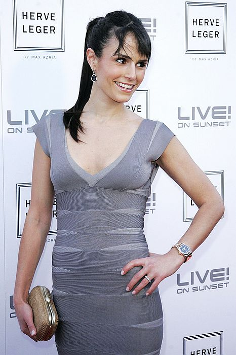 Jordana Brewster Hot Sexy Grey V Neck Dress