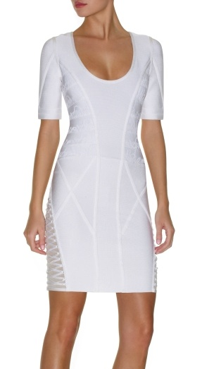 Kelly Rowland Dress Herve Leger White Dress