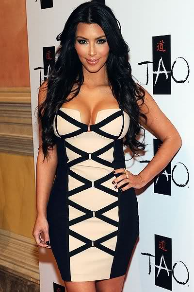 kim kardashian dress Herve Leger Strapless Bandage Dress