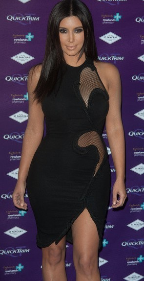 Kim Kardashian In Herve Leger 2014 New Black Dress