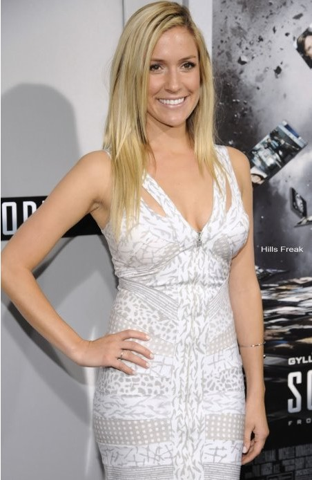Kristin Cavallari Dress Herve Leger White And Gray Print Dress