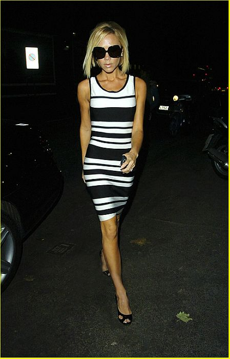 Victoria Beckham Dress Herve Leger Black And White Dress