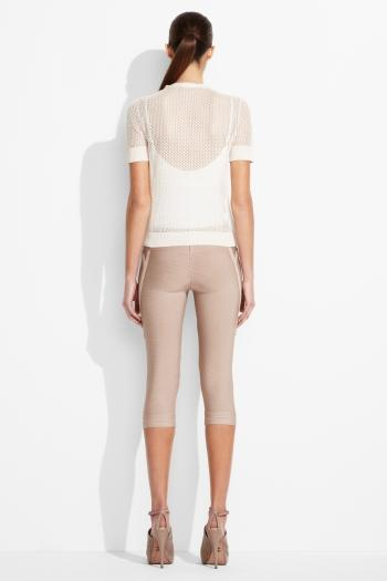 Herve Leger White Sweater