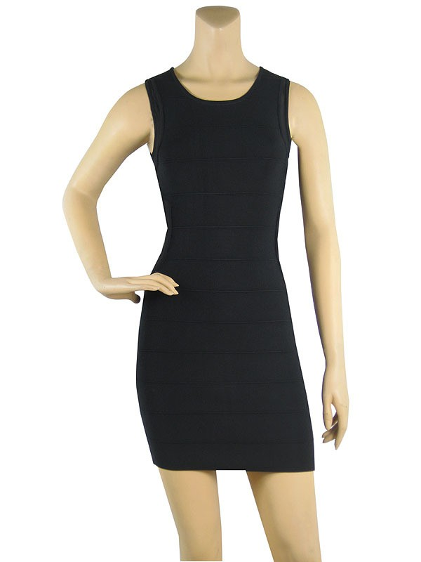 Herve Leger Black New Fashion Lace Halter Dress