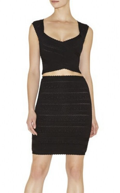 Herve Leger Multicolor Lace Bandage Dress