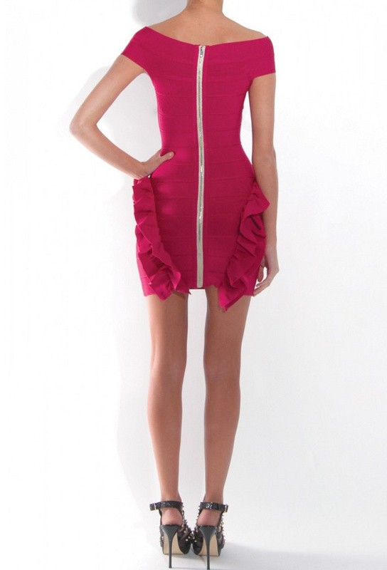 Herve Leger Rose Flowery New Fashion Style Dress