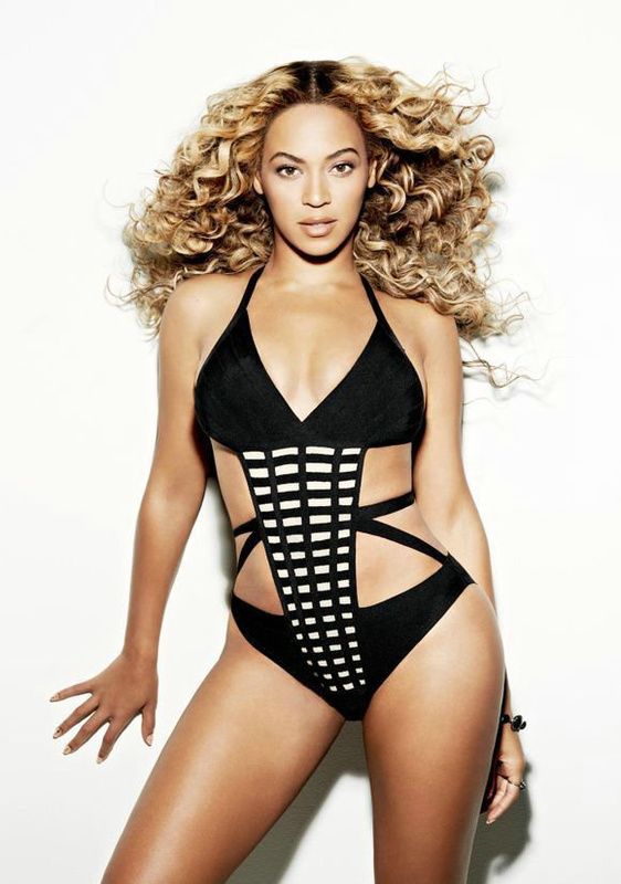 Beyonce Swimsuit Herve Leger Red And Black Multi Color Fashion One Piece Swimsuit
