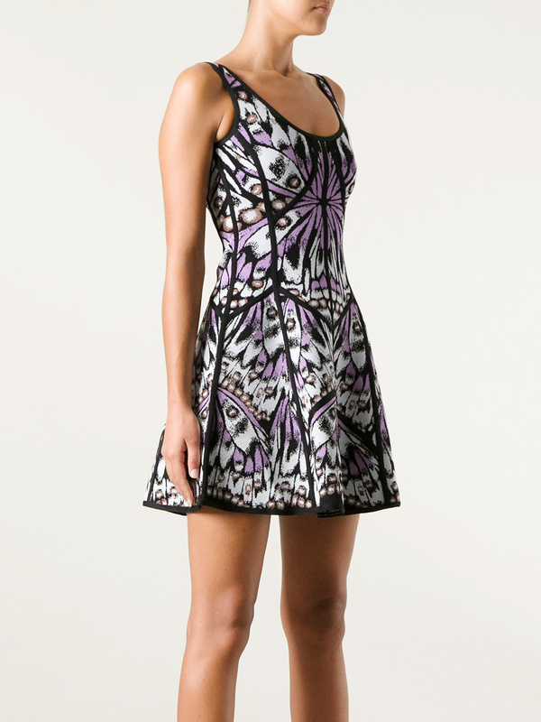 Paris Hilton Dress Herve Leger U Neck Sleeveless A Line Dress