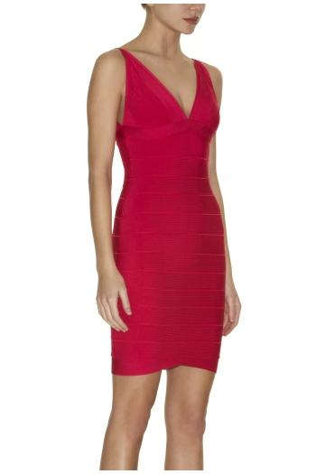 Kim Kardashian Herve Leger Dress Hot Red