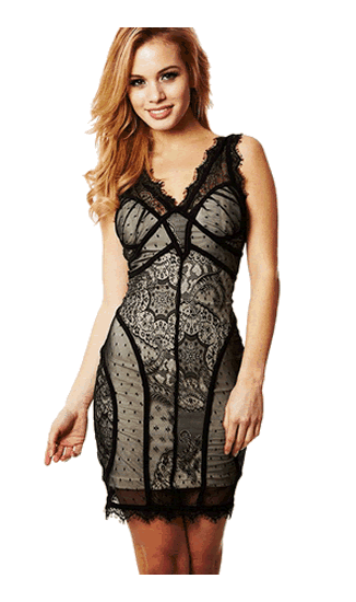 HERVE LEGER  LACE DRESS